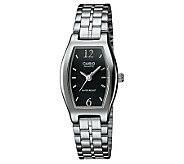 Casio Ladies Classic Black Dial Watch - J106941