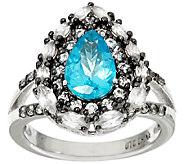 As Is Graziela Gems Apatite & White Zircon Sterling Ring, 2.00cttw - J327041
