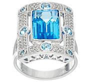 Jane Taylor Emerald Cut Gemstone Sterling Ring, 3.45 ct - J330941