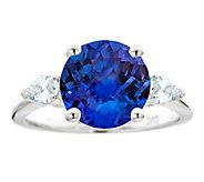 Premier 4.25 ct Tanzanite & 3/10cttw Diamond Ring, 14K - J336241