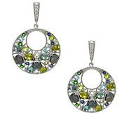 Judith Ripka Sterling Gemstone & Opal Earrings - J343541