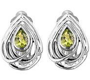 Hagit Sterling 1.00 cttw Peridot Earrings - J343641