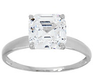 As Is Diamonique 3.00 cttw Solitaire Ring, 14K, White Gold - J351941