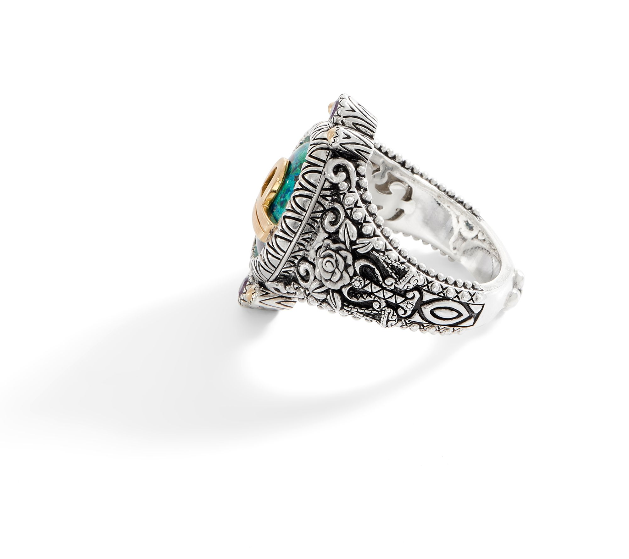 ced21f059 Barbara Bixby Sterling Silver & 18K Gold Horoscope Ring - Page 1 — QVC.com