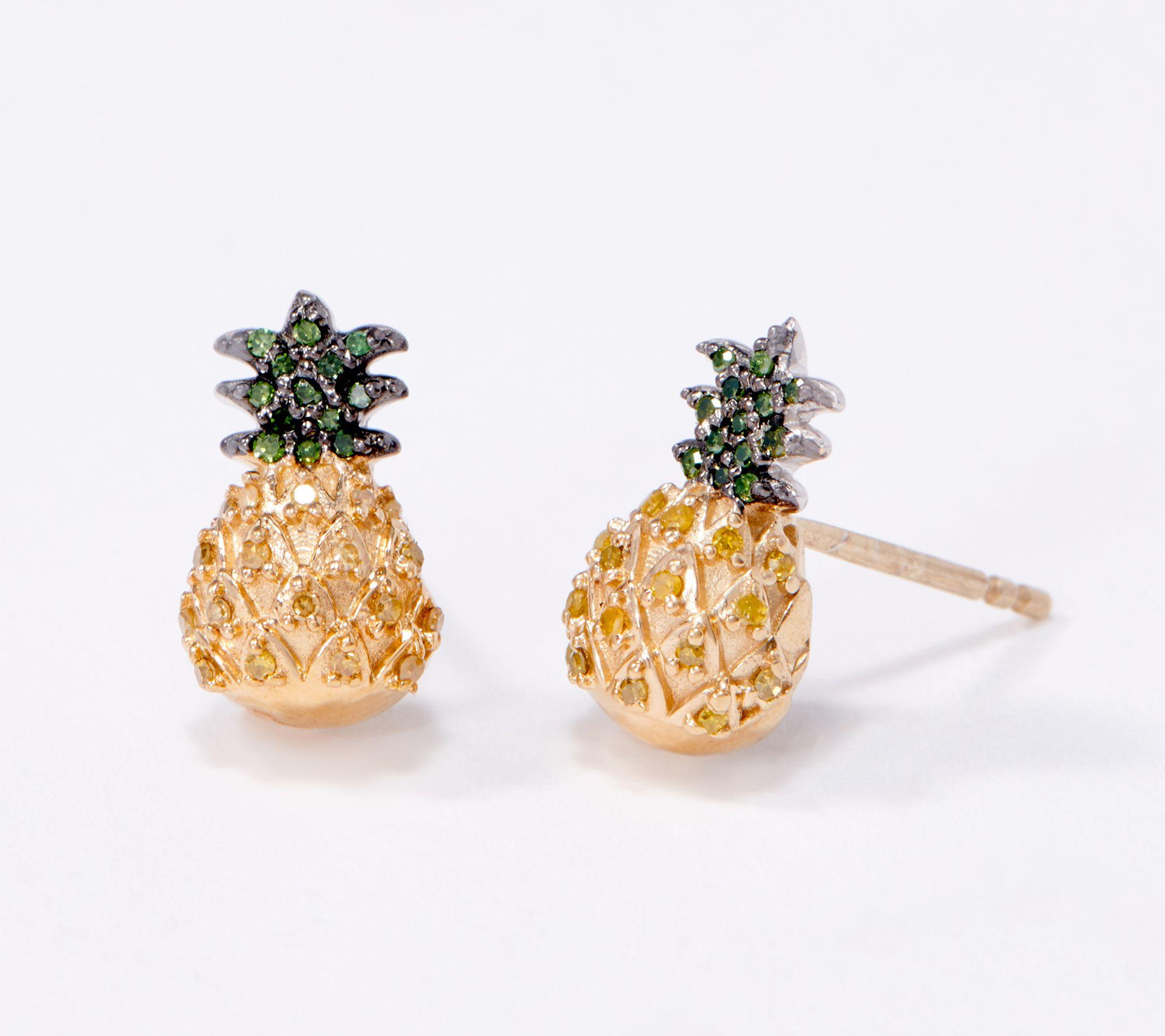 50% off adorable pineapple stud earrings