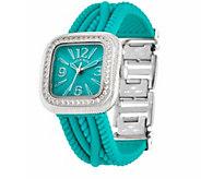 Judith Ripka Silicone Strap Watch - J384141
