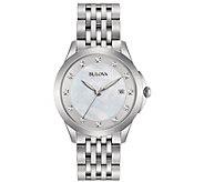 Bulova Womens Stainless Diamond Accent Bracelet Watch - J384241