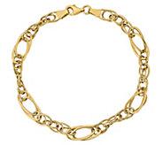14K Gold Double Oval Link Bracelet, 3.4g - J384941
