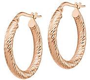 Italian Gold 3/4 Diamond-Cut Hoop Earrings, 14K Gold - J385741