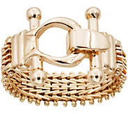 Imperial Gold Ultra Lame Buckle Ring, 14K - J388741