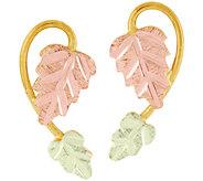 Black Hills Gold Leaf Post Earrings, 10K/12K Gold - J389041