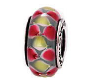 Prerogatives Sterling Red and Yellow Glass Bead - J109342