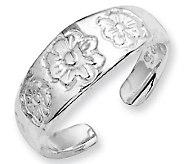 Sterling Floral Toe Ring - J111442