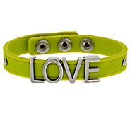 Stainless Steel Love Silicone Adjustable Bracelet - J294242