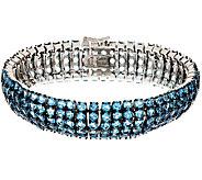 25.50 ct tw Gemstone 7-1/4 Bold Sterling Bracelet - J295242
