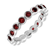 Simply Stacks Sterling Large Garnet Eternity Stackable Ring - J298642