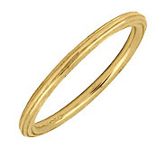 Simply Stacks 18K Yellow Gold-Plated Sterling Ring with Edgin - J298842