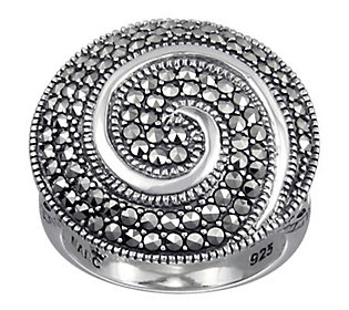 Suspicion Sterling Marcasite Swirl Ring
