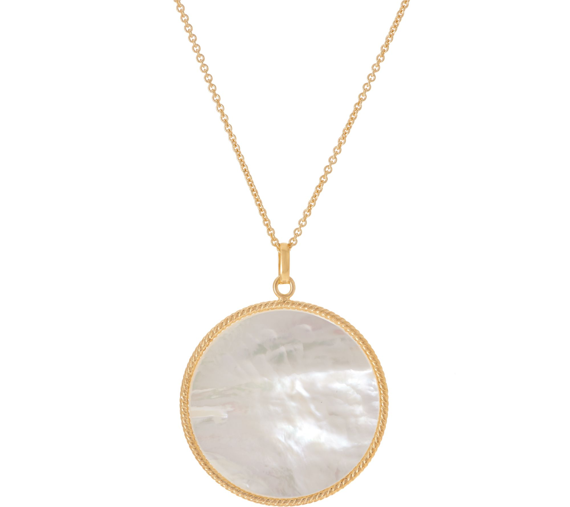 58991a4951d6b Honora White Mother-of-Pearl Pendant w/ 30