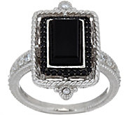 Judith Ripka Sterling Onyx & Black Spinel Ring - J349942