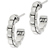 JAI Sterling Silver Box Chain Design 3/4 Hoops - J350142