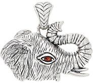 JAI Sterling Silver & Gemstone Elephant Enhancer, 21.1g - J355642