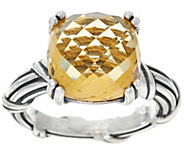As Is Peter Thomas Roth Sterling Fantasies 6.20 ct Citrine Ring - J358442
