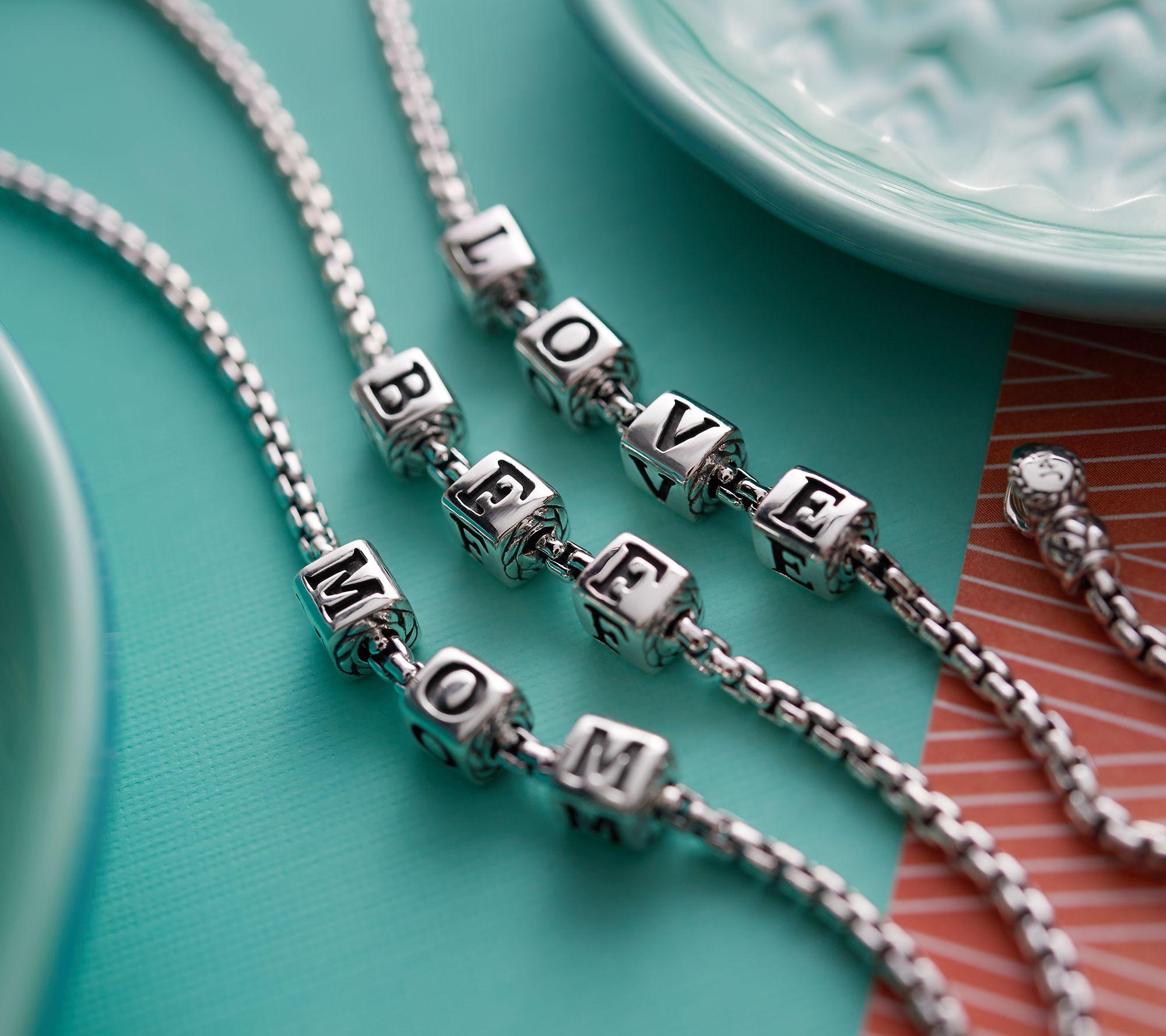 908a9b2c22 JAI Sterling Silver Choice of Message Box Chain Bracelet, 10.0g - Page 1 —  QVC.com