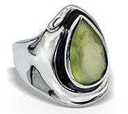 Hagit Sterling 4.20 ct Prehnite Ring - J379542