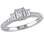 Affinity 14K Gold 1.25 cttw Emerald-Cut Diamond3-Stone Ring - J381342
