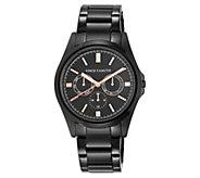 Vince Camuto Mens Multi-Function Black Bracelet Watch - J383542