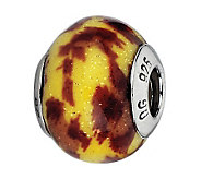 Prerogatives Yellow/Brown Jaguar Italian MuranoGlass Bead - J300443