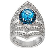 Judith Ripka Sterling Blue Topaz 2.15 cttw Ring - J328743