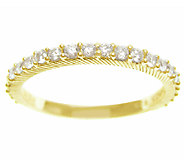 Judith Ripka Sterling 14K-Clad 4/10cttw Diamonique Band Ring - J339443