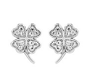 Sterling Petite Four-Leaf Clover Post Earrings - J341943