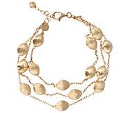 Arte dOro 7-1/4 Satin Bead Multi-strand Bracelet, 18K 11.8g - J343143