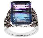 Sterling Silver 14.00 cttw Bi-Color Fluorite &Rhodolite Ring - J343643