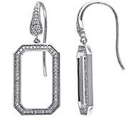Octagonal Earrings, 14K Gold, 1/2 cttw, by Affinity - J344243