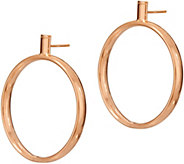 Bronze 1-1/2 Circle Drop Earrings by Bronzo Italia - J347043