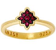 As Is Genesi 18K Clad Ruby Star Stack Ring - J347243