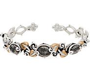 Barbara Bixby Sterling & 18K Vine & Doublet Cuff Bracelet - J349243