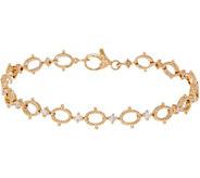 Judith Ripka 14K Gold_Oval Link_4/10 cttw Diamond 6-3/4 Bracelet - J352443