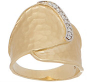 Adi Paz 14K Gold Diamond Accent Hammered Ring - J357743