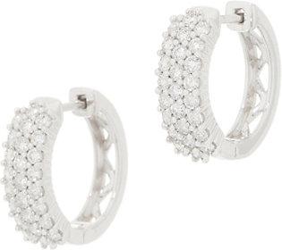 Affinity Diamond 14K Gold Huggie Hoop Earrings,1.00