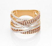 Affinity 14K Gold Champagne & White Diamond Ring, 1.50 cttw - J360543