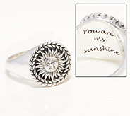 Ships 3/25 JAI Sterling Silver Choice of Motif Signet Ring - J362043