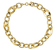 Italian Gold 14K Oval & Round Link Bracelet, 4.9g - J384943