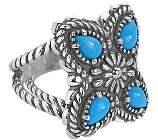 American West Sterling Sleeping Beauty Turquoise 4-Stone