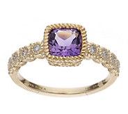 Judith Ripka 14K Gold Gemstone & Diamond AccentRing - J386943