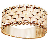 Imperial Gold Basket-Weave Ring, 14K - J388743